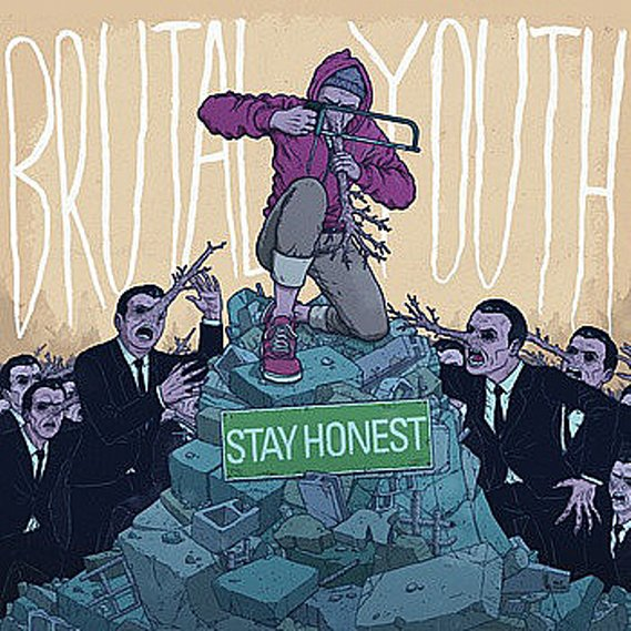 Brutal Youth - Stay Honest LP Green Splattered
