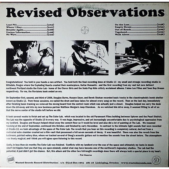 Revisions - Revised Observations LP 2