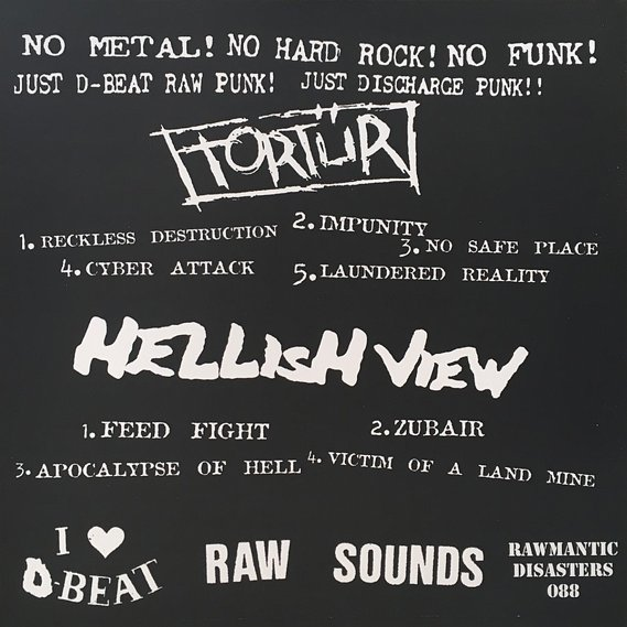 Tortür / Hellish View Raw Split LP 2